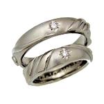 チタンセットリング 盛り上がったハートの結婚指輪