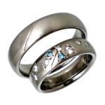 チタン結婚指輪にダイヤモンド10個