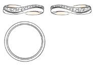 チタン オリジナル リング ダイヤモンド デザイン画