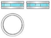 ハンドメイドチタンリング オリジナルデザイン チタンの指輪