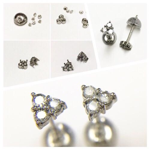 Pt900, ダイヤモンド, ピアス