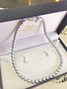 アコヤ真珠ネックレスとイヤリングセット