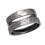 Airplane titanium marriage ring