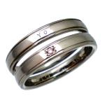 チタンマリッジリングの指輪サイズを小さくするご相談