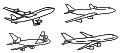 飛行機のセットマリッジリング