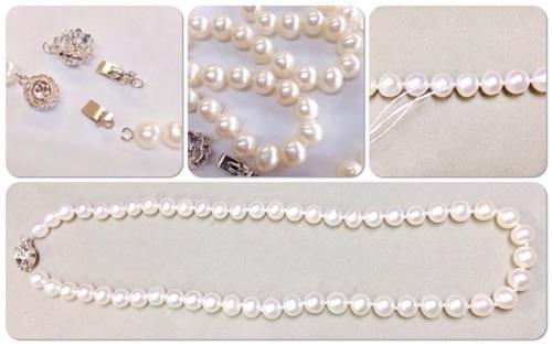 オールノットの真珠ネックレス