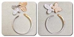 蝶のリング