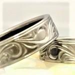 鍛造ハンドメイド結婚指輪 純チタン