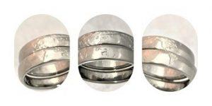 オーダーメイド 五大陸の純チタン結婚指輪 セットリング