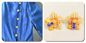 洋服の金ボタンはサファイアで蜂