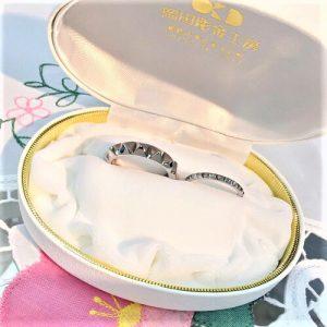フルオーダー結婚指輪 ハーフスタッズマリッジリング