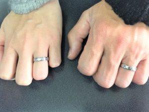 オーダーメイド 五大陸の純チタン結婚指輪