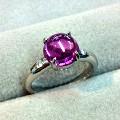 プラチナ紫石リングにリフォーム