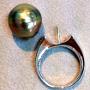 タヒチ真珠とダイヤモンドの入ったリング