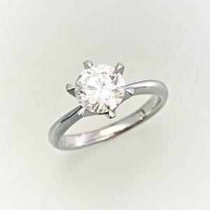 プラチナ1ct立爪ダイヤモンドリング