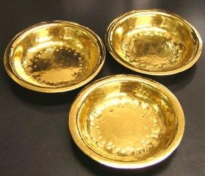 純金カレー皿