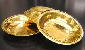 手作り純金カレー皿
