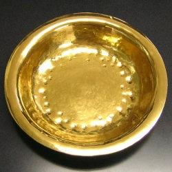 鍛造制作純金カレー皿