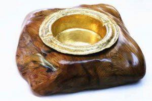 ハンドメイド 純金灰皿