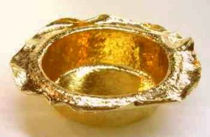 オリジナル 純金灰皿