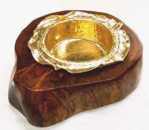 純金灰皿 オリジナル