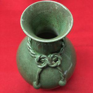大清乾隆年製緑釉花生