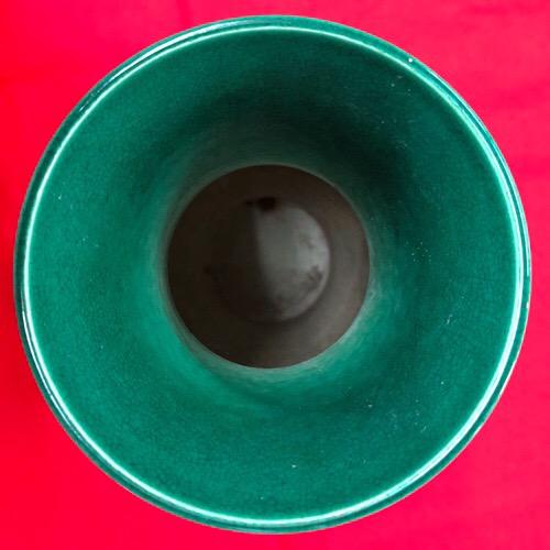 青磁五爪龍紋緑釉花瓶