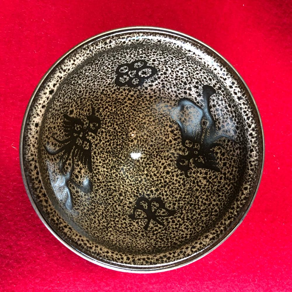 鳳凰紋天目茶碗