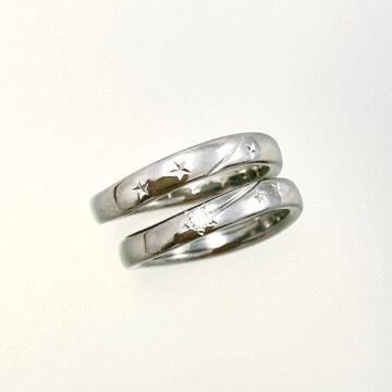ハンドメイド チタン 結婚指輪