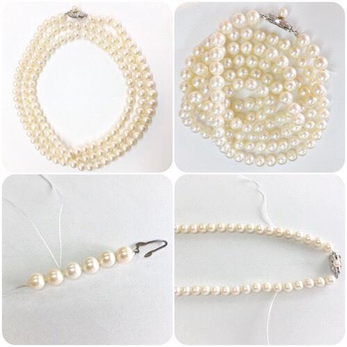 真珠ネックレス,仕立て直し,あこやパール