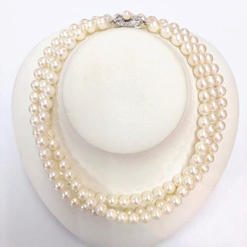 あこや真珠,ネックレス,糸替え