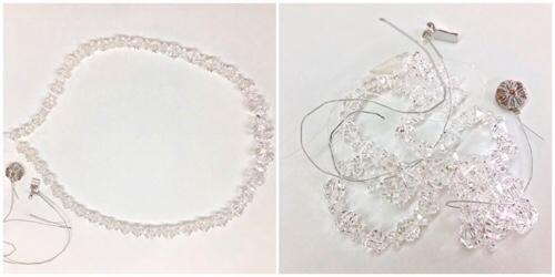 ネックレス洗浄,水晶ネックレス,ワイヤー仕立て