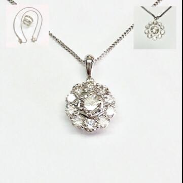 ダイヤモンドのペンダント