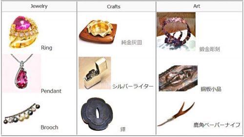 兵庫県姫路市のジュエリー岡田彫金工房の作品集