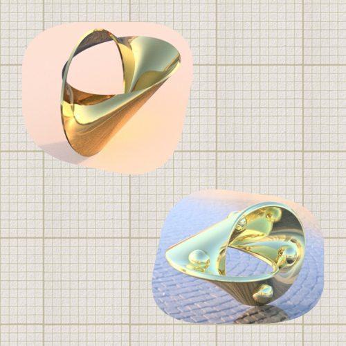 3D-CADの2種類デザイン画
