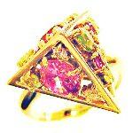 K18三角錐指輪